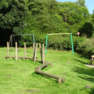 Photo of play equipment in Maeshafn park