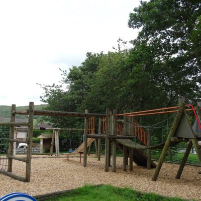 Photo of climbing frame and slide in park 2
