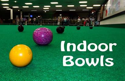 Picture of Indoor Bowls match being played