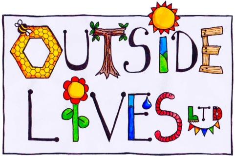 Illustration of logo promoting Outside Lives