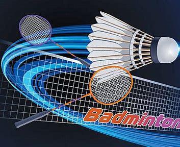 Illustration of Badminton equipment