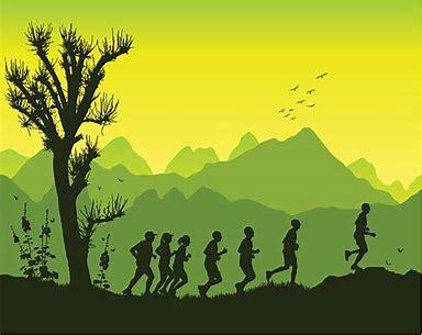 Illustration of Mountain Range Runners