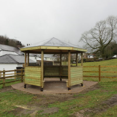 Photo of outdoor education shelter